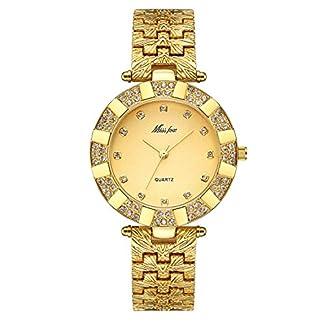 Damen-Uhren-Casual-Fashion-Slim-Wasserdicht-Uhren-Diamant-Strass-Gold-Edelstahl-Quarz-Armbanduhr