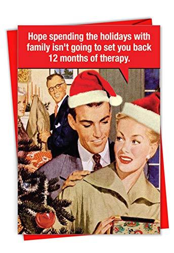 Weihnachtskarten mit Umschlägen, 12 Months of Therapy, 12 Stück - 12mo Einem Stück