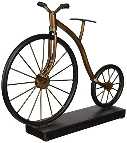 Imax Expedition Big Wheel Fahrrad Statuen, Bronze,