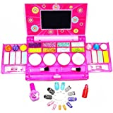 TOYMYTOY Makeup Play Set Princess Girls All-in-One Deluxe Cosmetic And Real Makeup Palette With Mirror (Washable)