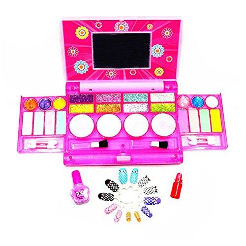 TOYMYTOY Kinder Mädchen Make-up Spielzeug Set Lidschatten mit Spiegel Rollenspiele Zubehör