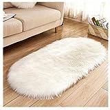 Teppich Faux Lammfell Schaffell Teppich Spitzenqualität Lammfellimitat Teppich, Flauschig Weiche Langes Haar Teppich, Modern Wohnzimmer Schlafzimmer Teppich, Nachahmung Wolle Bettvorleger Sofa Matte