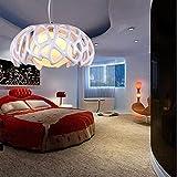 Runde Verzierte Pendelleuchte POP Hängelampe LOFT Innenleuchte Modernen Minimalistischen Jungenstil Esszimmerlampe Kugelpendel Flur Epoxidharz Hängeleuchte Weiss Rot 1*E27 Ø35CM, Weiß