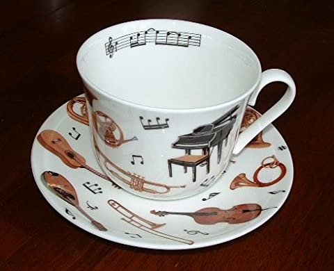 Roy Kirkham Fine Bone China Musician's Concert Breakfast Cup & Saucer Set by Keep Calm and Carry On