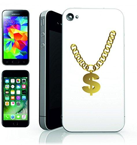 Smartphone Case di distintivo della luce della catena di contemporanei di Cool della Cultura di dollari di eleganza della moda fiore dell oro Slim di Hip Hop per Apple Iphone 4/4S, 5/5S, 5C, 6/6S,