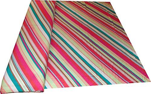Mamadu Bunt Gestreifter Jersey (Viskose, bielastisch), extra breit 1,70m, fließender Fall, super für Shirts, Kleider UVM, ab 0,50m - Creme Paisley Shirt