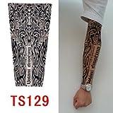 zivilverwalter hochwertiges Old School Stil temporäre Fake Rutschen auf Tattoo Arm Sleeve TS78neuen Farben