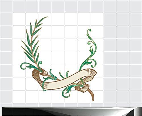 Fliesenaufkleber Fliesentattoos für Bad & Küche - Küchenfliesen 110x110 cm - Fließen Wunschgröße - MF149 - Weihnachten Schattierungen