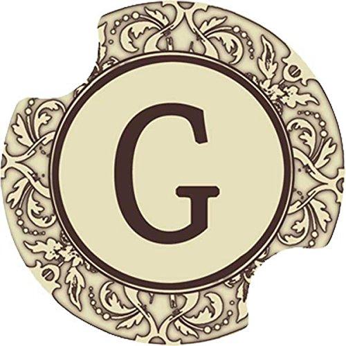Thirstystone Thirstystone Monogramm Car Becherhalter Untersetzer, 2 Stück G Not Applicable Carsters Set