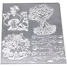 Providethebest Niña de Dibujos Animados Letras Transparentes Sello Claro Metal DIY de Scrapbooking Álbum de Fotos