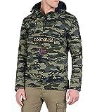 NAPAPIJRI Giubbino giacca impermeabile RAINFOREST SUMMER CAMO 2018 Col.Verde M. (XS)