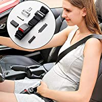 ELEAD Safety Pregnancy Seat Belt Reliable Maternity Bump Belt Adjustable for Mom Unborn Baby Comfortable Car Seat Belt Adjuster Pregnant Belt for Mom Belly Mater Protection with Leather Safety Lock