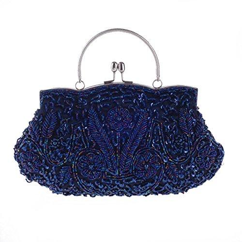 Plus Größe Karriere Tragen (ORSERA Damen Handgemachte Perle Handtasche, Abendtasche Damen Clutch Für Party, Hochzeit)