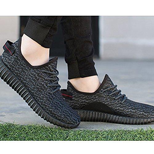 Miagolio Scarpe da Ginnastica Palestra Basse Uomo Donna Sneaker Sportive #1 Nero