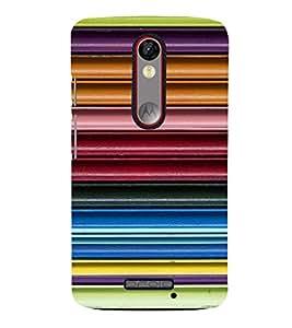 Fiobs Designer Back Case Cover for Motorola Moto X Force :: Motorola Moto X Force Dual SIM (Lines 3D Glossy Colorfull Patterns Design )