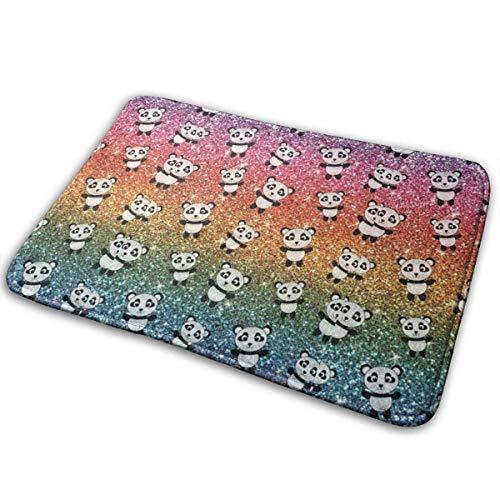 Klotr Felpudos, Glitter Panda Non-Slip Memory Foam