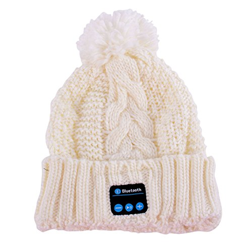 MORESAVE donne maglia cappelli wireless auricolare telefono testa berretto Bluetooth