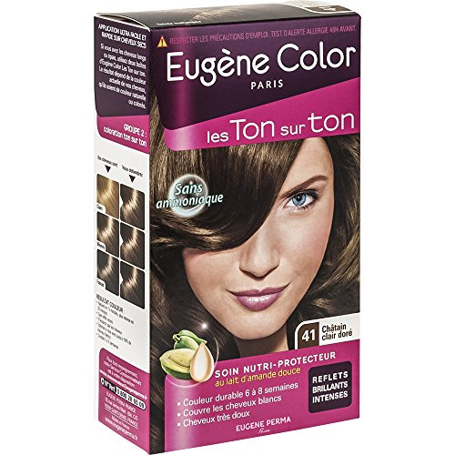 Eugène Color - Les Ton Sur Ton - N°41 Châtain Clair Doré- Coloration Ton Sur Ton sans Ammoniaque - Lot de 2