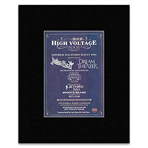 HIGH VOLTAGE FESTIVAL - 2011 - Judas Priest Dream Theater Jethro Tull. Mini Poster - 28.5x21cm