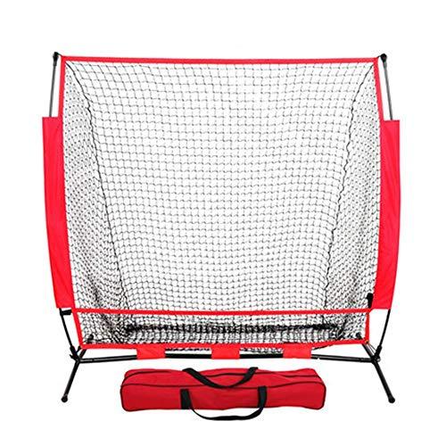 Red de práctica de béisbol La red portátil de práctica de béisbol de 150x150 cm, la red de lanzamiento duradera y de softbol es muy adecuada for el bateo Práctica suave de lanzamiento defensivo Apto p