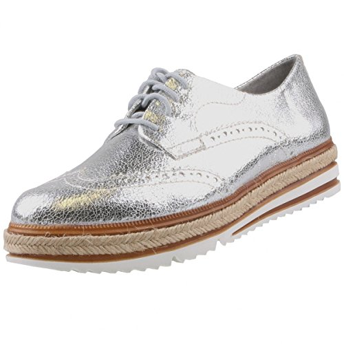 Tamaris Damen 23709 Sneaker, Silber (Silver Crack), 36 EU