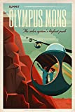 SpaceX Mars tourism poster for Olympus Mons - Small - Matte Print