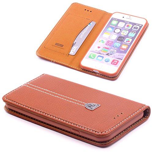 Preisvergleich Produktbild [ iPhone 7 PLUS ] Handy Schutz Tasche Noble Series Cover für [ iPhone 7 PLUS ] edle Book Style Hülle mit Aufstellfunktion und Kartenfach ScorpioCover braun