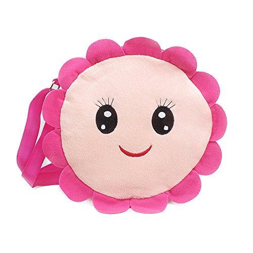 Baby Mädchen Schultertasche Fleece Süß Cartoon Umhängetasche Crossbody Bag Mini Kinder Handtasche Kindertasche Geschenk Pink Rosa...