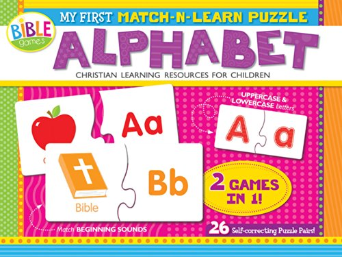 My First Match-N-Learn Puzzle: Alphabet: 26 Self-Correcting Puzzle Pairs (I\'m Learning the Bible Floor Puzzle)