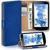Cover OneFlow per LG Google Nexus 4 Custodia con scomparti documenti   Flip Case Astuccio Cover per cellulare apribile   Custodia cellulare Cover rotettiva Accessori Cellulare protezione Paraurti ROYAL-BLUE