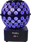 Ibiza Light & Sound STARBALL-GB LED Lichtkugel mit Strahlen und Gobos, 240 x 240 x 315 mm