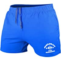 Muscle Alive Men Bodybuilding Gym Workout Shorts Sprots Fitness Terry Cotton