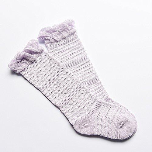 ZYTAN Matsuguchi Ko Baby Socken, Männer und Frauen Tong Baobao Socken, Strümpfe, Baumwolle, Lavendel, Im Alter von 1-3 6 Paar Lavendel-männer Socken
