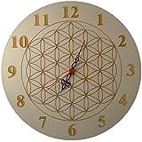 Uhr Wanduhr Holz Ø 30cm Pappel oder Buche mit Wunschgravur