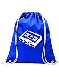 "'Gym bag ""Cassette Audio Frequency Band A Retro Vintage Radio Entertainment 80s Socket with Drawstring – 100% Cotton Gym Bag Backpack Sports Bag"