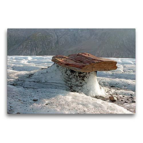 Premium Textil-Leinwand 75 x 50 cm Quer-Format Gletschertisch | Wandbild, HD-Bild auf Keilrahmen, Fertigbild auf hochwertigem Vlies, Leinwanddruck von Ingrid Michel
