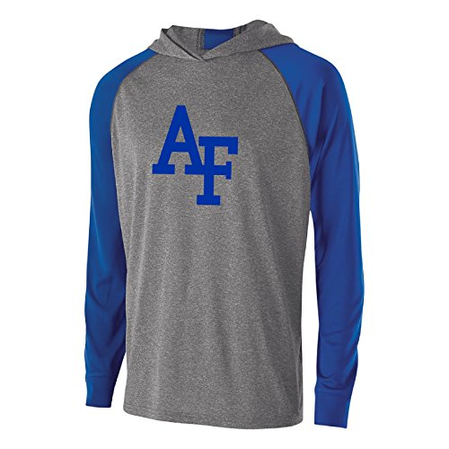 Ouray Sportswear NCAA Air Force Falcons Men's Echo Hoodie, Graphite/Royal, Large -