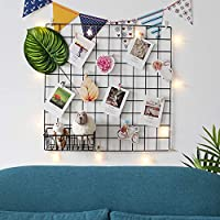 ANZOME Wire Wall Grid Mesh Metal Memo Board Workspace Office Organization Interior Display Panel Decorative Noticeboard Pinboard