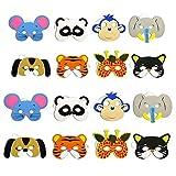 10pcs Máscara Suministros Fiesta de Cumpleaños EVA Espuma Animal Máscaras Fiesta de Niños de Dibujos Animados Disfraces Disfraz Zoo Selva Máscara Decoración de Fiesta LDCRE
