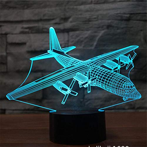 Neuheit 3D Led Visuelle Bunte Leuchte USB Tischlampe Nachttischlampe Schlafen Nachtlicht Kampfflugzeug Lampe Kreative Kinder Geschenk ## 8 - Stuhl Aufblasbare Cafe