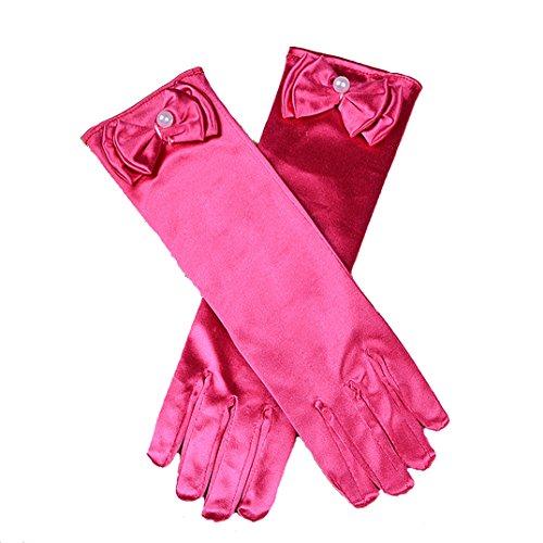 Cinda Cinda Mädchen-heilige Kommunion-Blumen-Mädchen-Handschuhe in 11 Farben 4-8 Jahre Fuchsie 4-8 Jahre