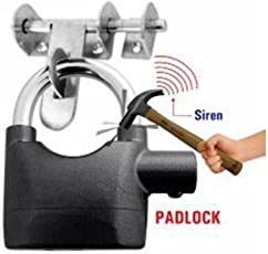 Konarrk Security Pad Lock anti theft system with burglar Smart Alarm Siren Motion Sensor secure for Home door gate cycle shop bike office shutter