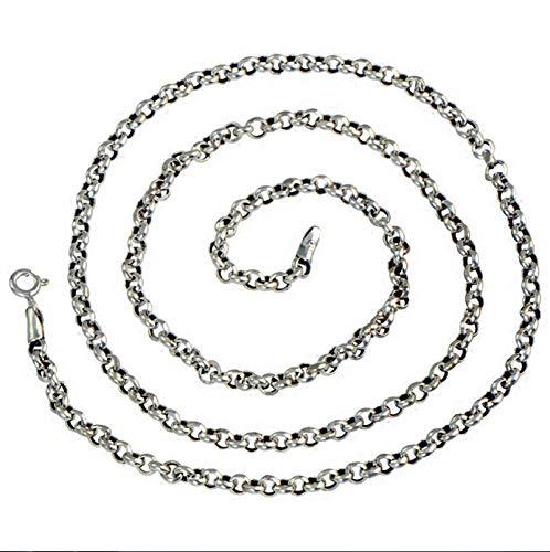 Fußball Braun Perlen Halskette - Beydodo Kette Echt Silber 925 Rolokette