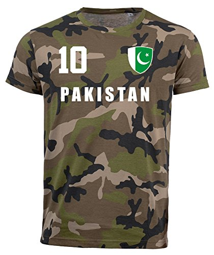 aprom Pakistan Camouflage T-Shirt - All-10 - Trikot Army Look WM World Cup Pakistan (S)