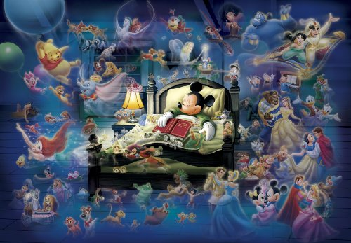 Preisvergleich Produktbild Tenyo Disney Mickey's Dream Fantasy Glow in the Dark Jigsaw Puzzle (500 Piece)