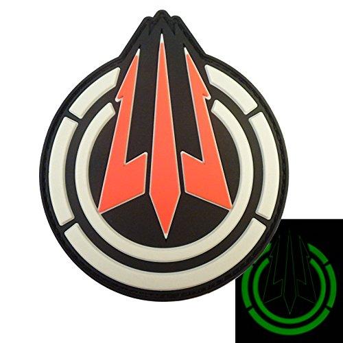 Glow Dark Call of Duty Black Ops 3 Hidden Logo PVC Gomma PS4 Xbox Morale Velcro Toppa Patch