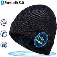 Bonnet Bluetooth Cadeaux Hommes Original - Unisexe Music Bonnet Bluetooth Chapeau avec écouteurs Stéréo Sans Fil, Doux Chaleureux Bluetooth Chapeau d'hiver, Convient à Sports, Ski, Patinage, Marche