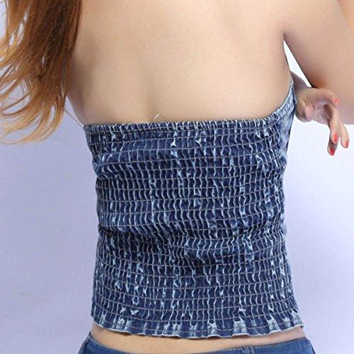 Aivtalk-Top a bustino, corto, senza maniche, per donna/ragazza, con chiusura a zip, colore a scelta Verde