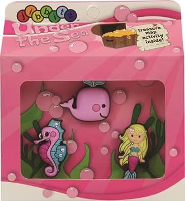 Jibbitz Unisex-Child Girls Underwater 3 Pc Pack Shoe Decoration Charms Multicoloured One Size