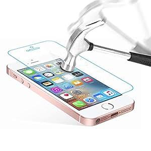 iPhone SE Protection écran en Verre Trempé , Danibos Film Protection d'écran en Verre Trempé pour iPhone SE